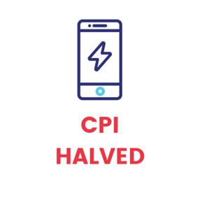 CPI HALVED