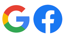 FB Google logos