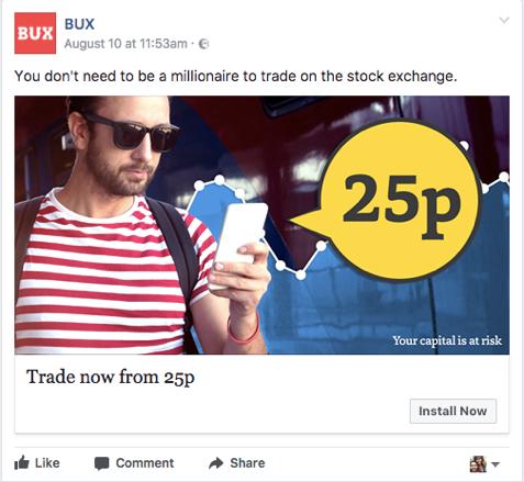 MakeMeReach BUX ad