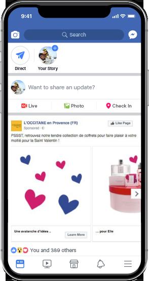 L'Occitane Facebook Carousel Ad 2