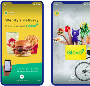 Glovo Instagram Stories ads