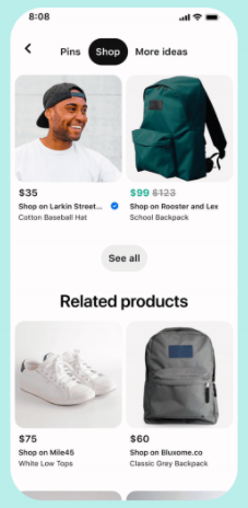 Shop from pin
