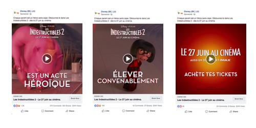 disney Facebook Ads