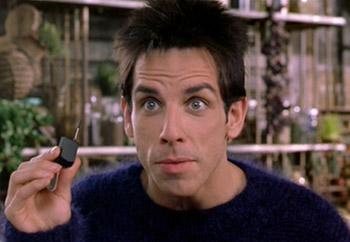 Derek Zoolander and his tiny phone